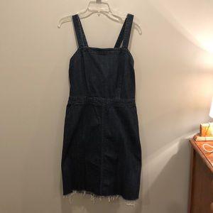 Apron Front Denim Dress